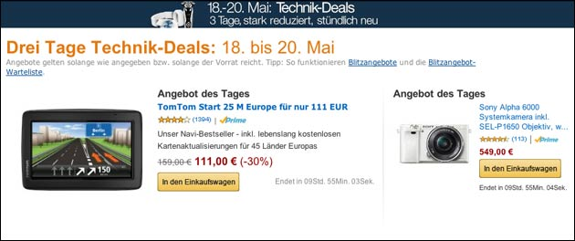 noch bis morgen technik schn ppchen bei amazon. Black Bedroom Furniture Sets. Home Design Ideas