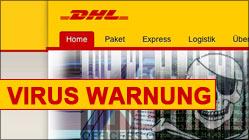 DHL Virus Warnung! Gefälschte Emails verbreiten Viren!