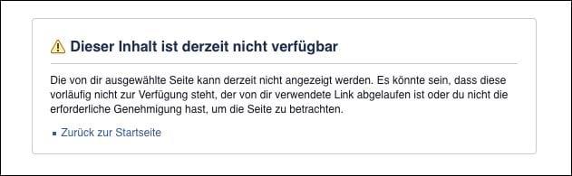 Inhalt Nicht Verfügbar Facebook