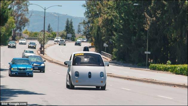 Beinahe-Unfall mit Google-Auto