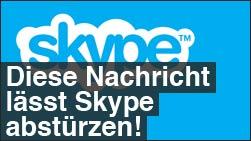 Skype lässt sich mit dieser Nachricht abschiessen!