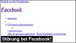 Facebook Störung: Seite lädt nicht mehr richtig!
