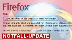 Firefox Notfall Update!