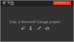 Neues, gratis Screenshot Tool: Microsoft Snip