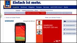 Handy-Schnäppchen: Das Galaxy S3 mini gibts heute bei Aldi Süd!