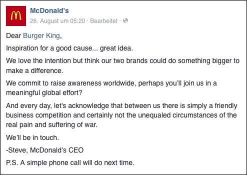 McDonald's Antwort zum McWhopper
