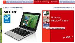 Lohnt sich das leise Mini-Notebook? Medion Akoya S2218 bei Aldi Süd!