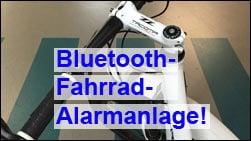 Finger weg: Die Bluetooth-Alarmanlage macht nicht nur Krach, sondern soll das Rad auch orten!