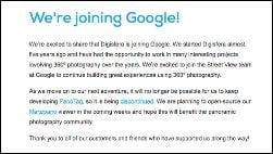 Google kauft Firma, um Street View aufzuwerten