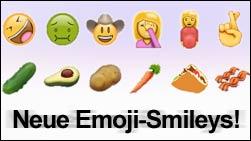 Bald neue Emoji Smileys? Das sind die 67 neuen Icons!