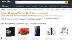 Heute billiger: Amazons Cyber Monday!