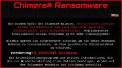 Chimera Virus: Verschlüsselt die Daten und fordert Lösegeld!