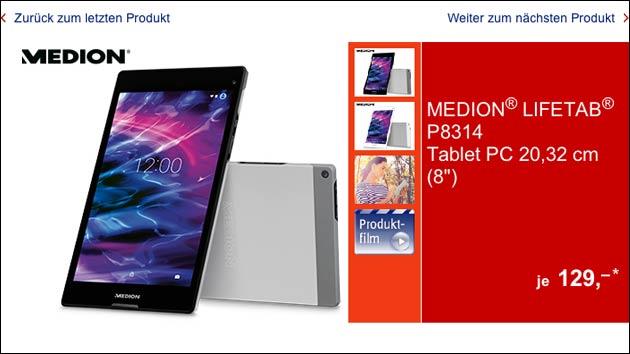Tablet-Schnäppchen? Medion Lifetab P8314