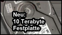 Neue Festplatte mit viel Platz: 10 Terabyte!