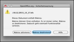 Achtung: Makro Viren wieder unterwegs!