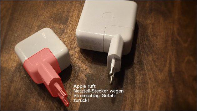 Rückruf: Apple tauscht Netzteil-Stecker aus!