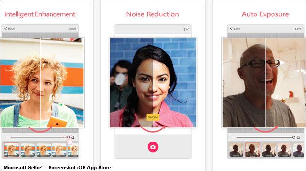 Neue, beliebte Selfie-App: Microsoft Selfie