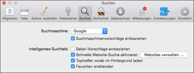 Mac OS Safari