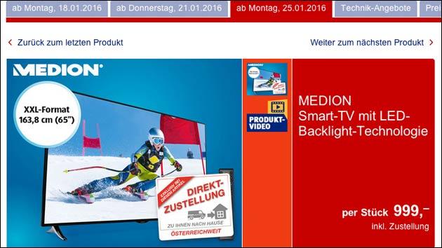 Medion Life X18053: Riesen Fernseher zu gutem Preis!