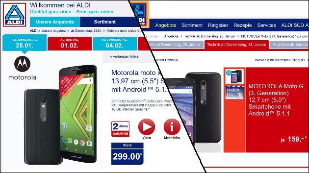 Motorola Handys: Morgen bei Aldi!