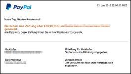 Vorsicht, Phishing: Klicken Sie nicht auf diese Paypal-Emails!