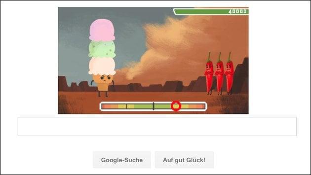 Nur heute: Geschicklichkeits-Spiel bei Google!