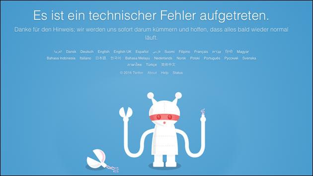 Twitter ist offline!