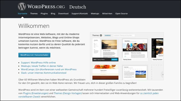 Wordpress 4.4.1 erschienen!