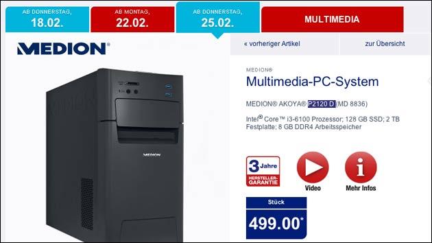 PC Schnäppchen? Medion Akoya P2120D