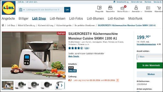 Monsieur Cuisine: Küchenmaschine mit Kochfunktion wieder bei Lidl!