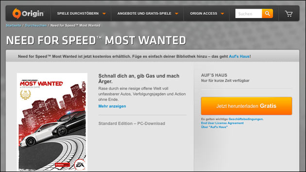 Need For Speed gratis (PC Version)!