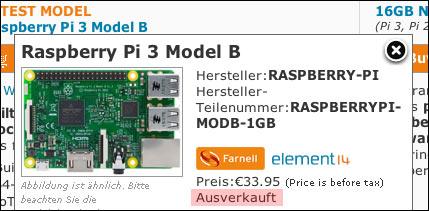 Raspberry Pi bereits ausverkauft!