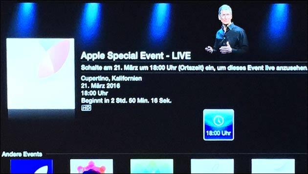 Apple Keynote als Live-Stream ansehen!
