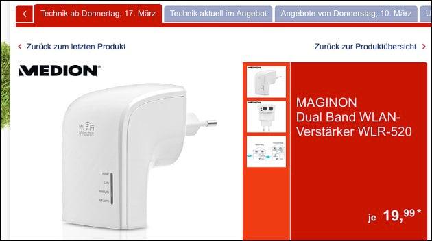 Günstiger WLAN Verstärker Maginon WLR 520