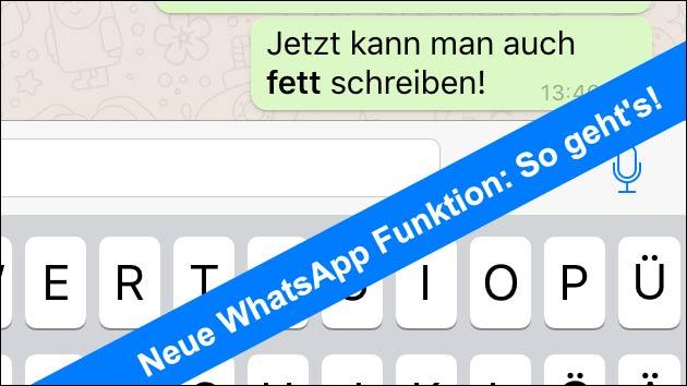 bei whatsapp fett schreiben