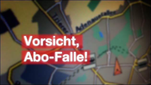 Vorsicht vor diesem Routenplaner: Der Dienst soll 500,- EUR kosten!