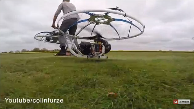 HoverBike: Selbstgebautes, fliegendes Fahrrad aus England!