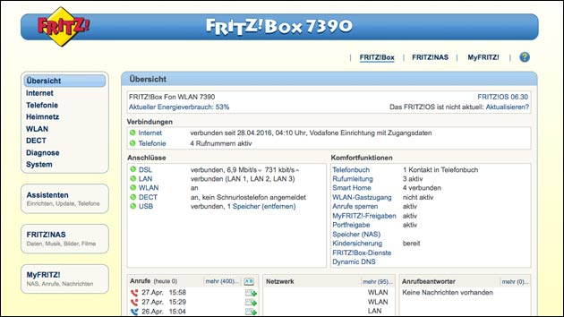 Fritzbox Update