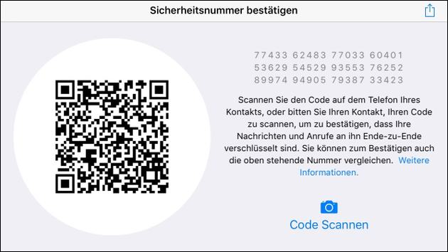 WhatsApp QR-Code Verschlüsselung