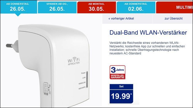 Dual-Band WLAN-Verstärker Maginon WLR 520