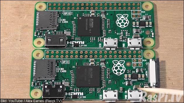 Raspberry Pi zero mit Kamera Anschluss
