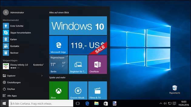 Bald nicht mehr kostenlos: 119,- US$ für Windows 10 Update!