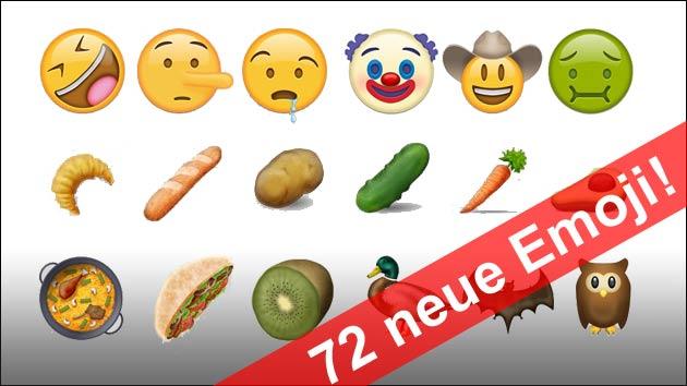 Unicode 9 Das Sind Die 72 Neuen Emoji Smileys D 246 Ner