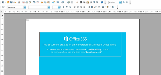 Office 365: Makro Virus