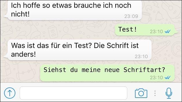 WhatsApp-Update bringt neue Schrift!