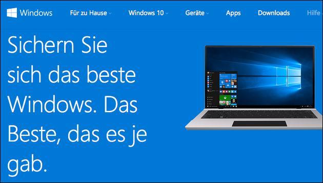 Windows 10 Update: Noch bis zum 29 Juli!
