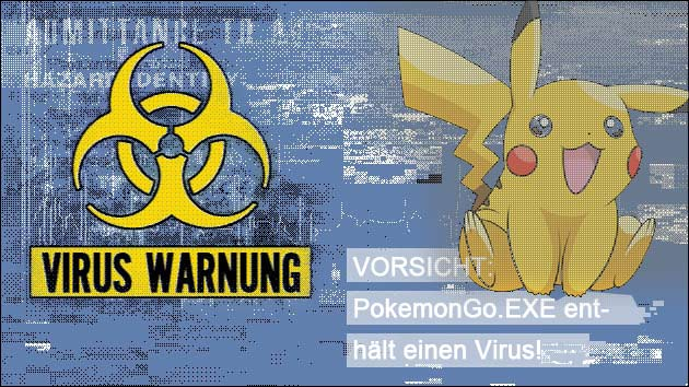 Vorsicht Virus: PokemonGo.exe enthält Ransomware!