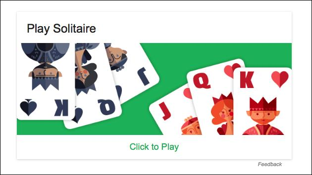 Solitaire: Neues Google Easteregg!