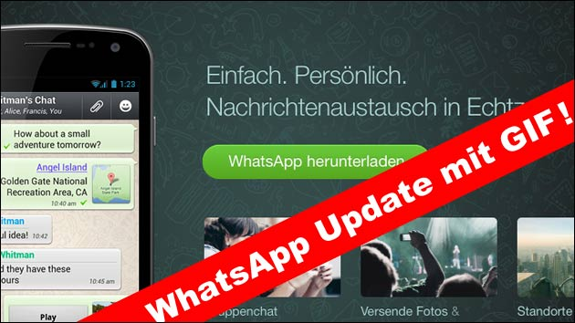 WhatsApp Update bringt GIF Videos!