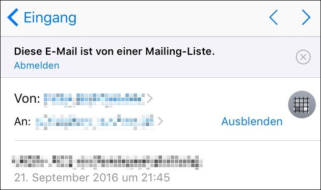iOS 10 Mail-Update